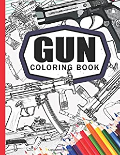 Gun Coloring Book Adult For Grown Ups