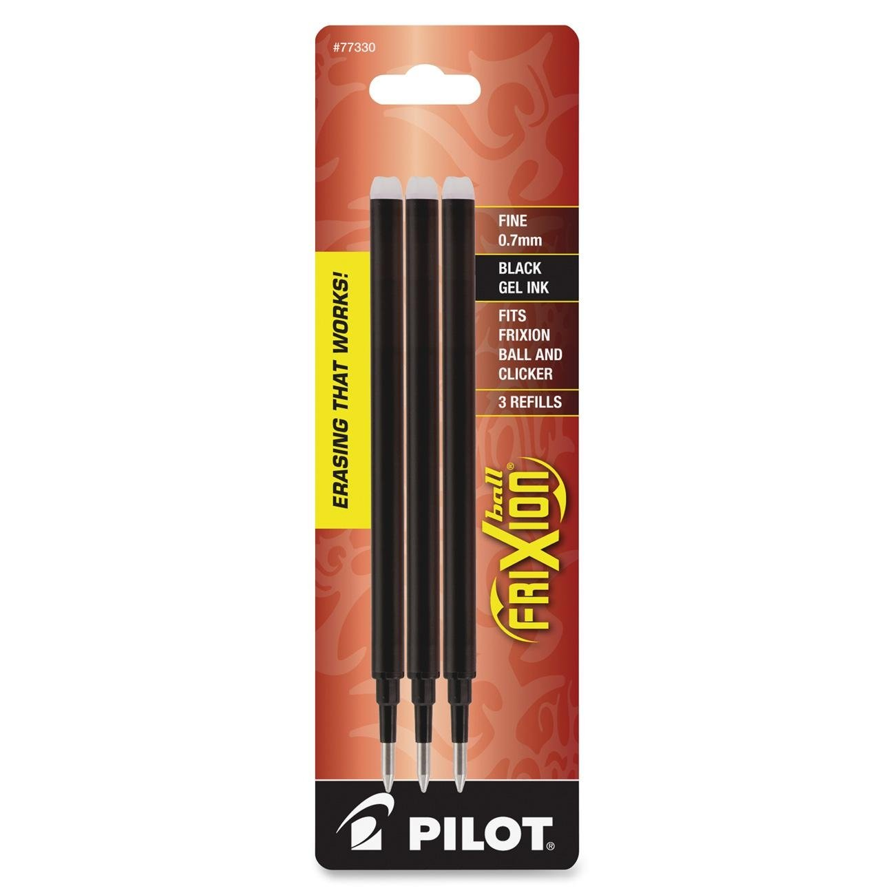 Pilot Frixion Gel Ink Pen Refill 3-pk For Erasable Pens Fin