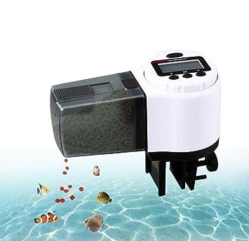 WYXIN Alimentador de peces automático del acuario, Dispensador de alimentos de peces de pantalla LCD