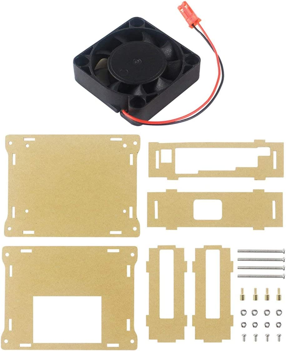 Acrylic Box with Cooling Fan for NVIDIA Jetson Nano Cooler Housing Developer Kit with Fan Optical Shell