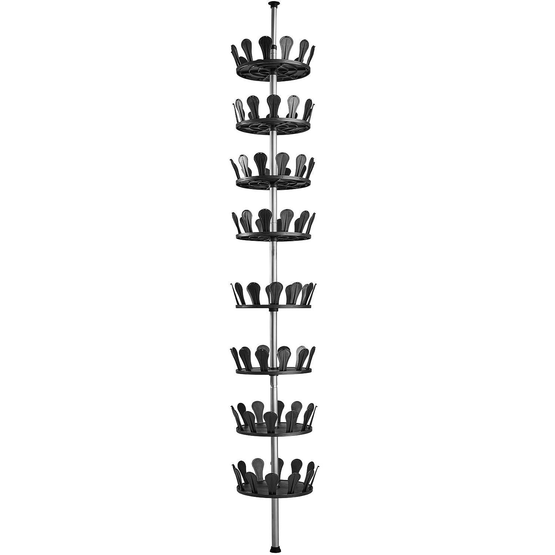 TecTake Carrousel à Chaussures XXL Rotatif avec Tige télescopique ✔ 8 Niveaux...