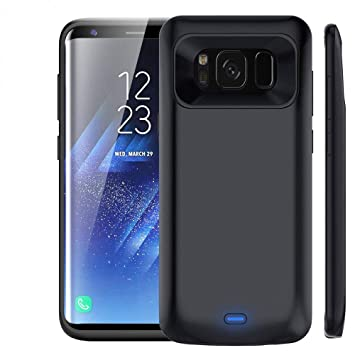 NOVPEAK Funda Bateria para Samsung S8 Plus, 5500mAh S8 Plus Power Bank Externa Recargable Cargador Portatil Protector Estuche de Carga para Galaxy S8 ...