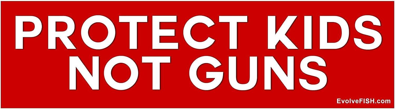 EvolveFISH Protect Kids Not Guns Bumper Sticker 11 x 3