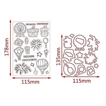 cugap Handprint Basic Beginnings seguro de corte Die metal Stencil Plantilla Molde para DIY álbum de recortes Tarjeta de papel: Amazon.es: Juguetes y juegos