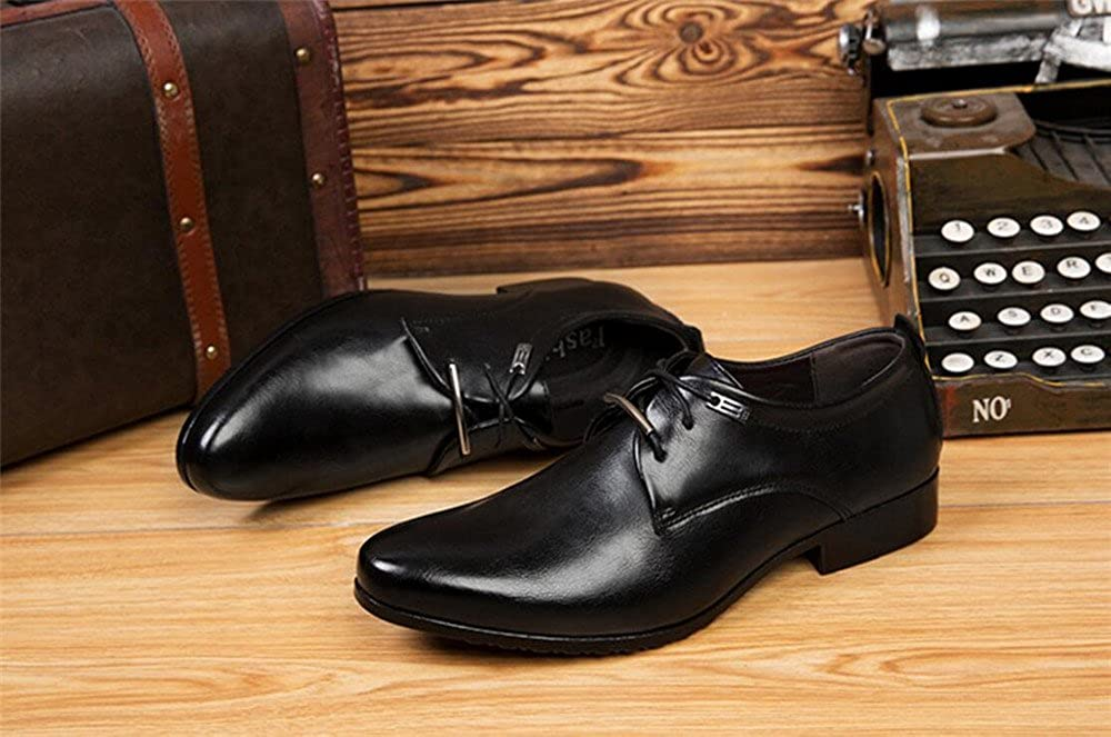 YUBUKE Men's Men's Pointed Casual Shoes Men's YUBUKE Business Dress Black Youth Wedding Shoes 42/7.5 D(M) US Men|Black B07G126J99 0704fd