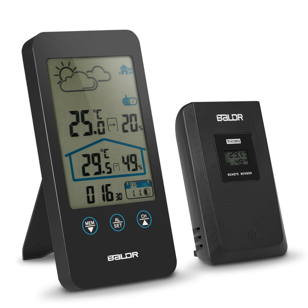 Decdeal Wireless Weather Station Hygrometer Temperature Humidity Measurement