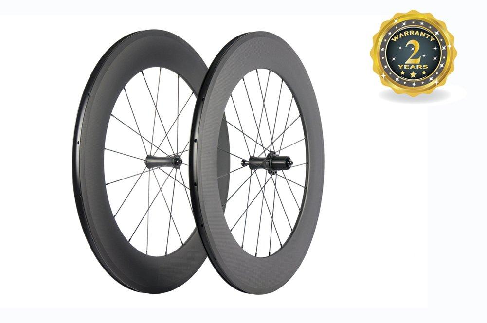 スーパーチーム カーボン 自転車ホイール 88mm クリンチャーロードホイール 700C ロマット仕上げ B0774JDMCX