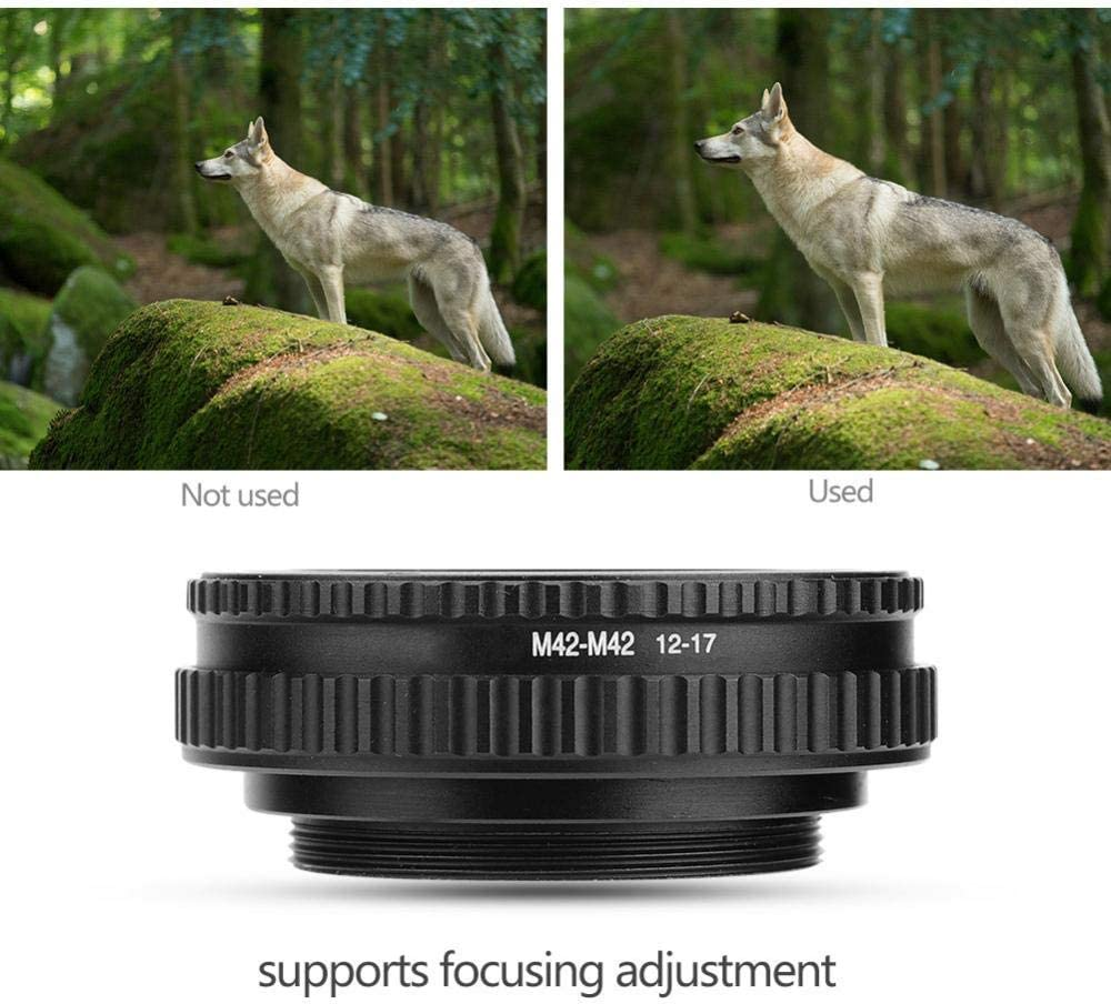 Biuzi Focusing Helicoid Adapter Durable Metal M42 to M42 Adjustable Focusing Helicoid Lens Adapter Macro Tube Accessory 36mm-90mm