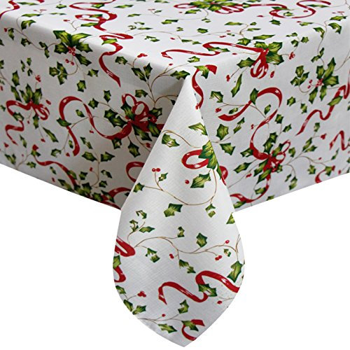 Colorbird holiday table cloth christmas red ribbon for 120 table runner christmas