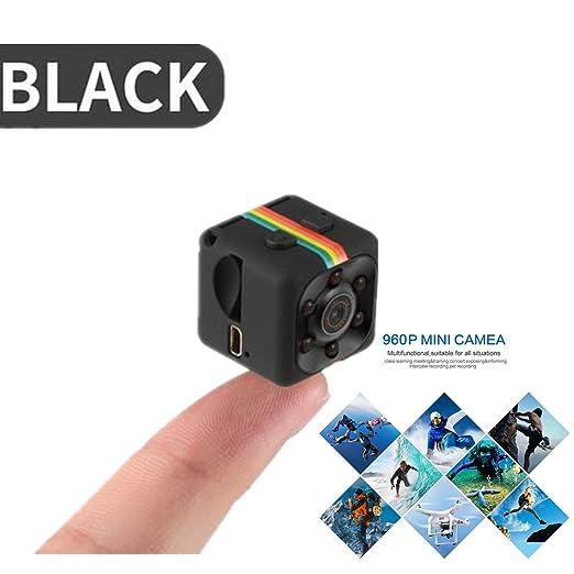 NWHEBET Mini Cámara Oculta Videocámara,Cámara De Deporte o Webcam 1080P HD Cámara Vigilancia Portátil Secreta Compacta con Detector de Movimiento IR ...