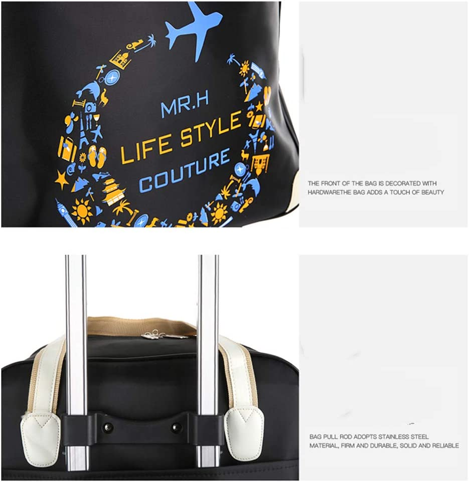 Minmin-lgx 2 Piece Rolling Wheeled Tote Suitcase Carry On Trolley Bag Travel Luggage Color : Red