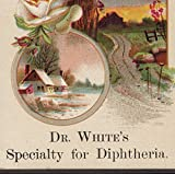 Dr Whites Specialty for Diphtheria Remedy Cure Victorian Advertising Trade Card