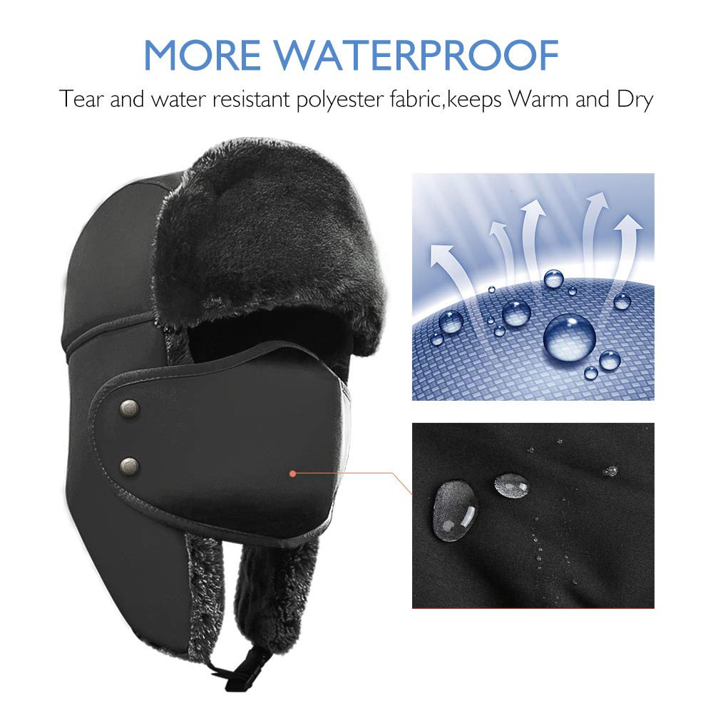 3712cfc1c33 Amazon.com  AKASO Winter Hat with Ear Flaps