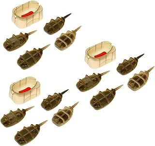 Sharplace 12 Pcs (20g 25g 30g 35g) Pêche Porte appât Feeders Sinker Plomb Outils de pêche Accessoires