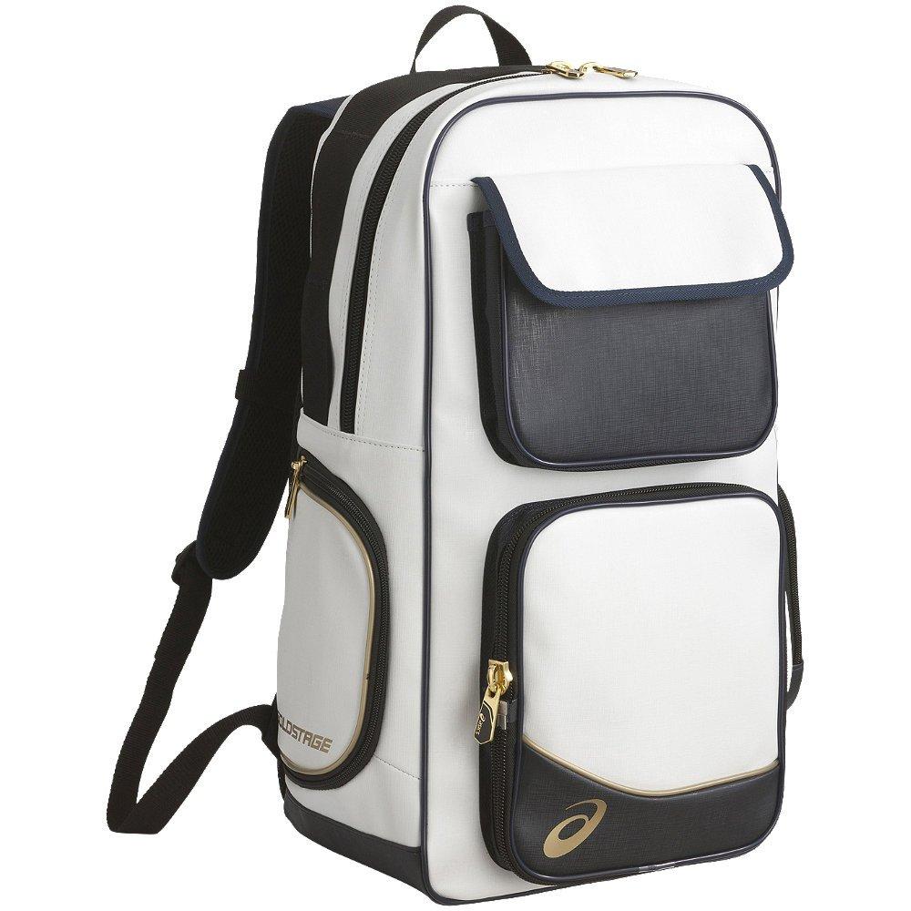 [アシックス]野球 バックパック ゴールドステージ BEA164 F フリーサイズ B01BWA9KM0 ホワイト/ブラック ホワイト/ブラック