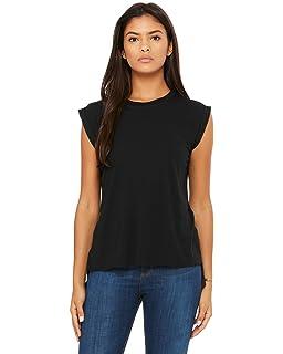 0d2cc7e7b Amazon.com: Bella + Canvas womens Flowy Simple V-Neck T-Shirt - 8815 ...