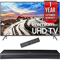 Samsung 82 UHD 4K HDR LED Smart HDTV 2017 Model (UN82MU8000FXZA) with 1 Year Extended Warranty & Samsung 4K Ultra HD Blu-ray Player