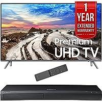 Samsung 82 UHD 4K HDR LED Smart HDTV 2017 Model (UN82MU8000FXZA) with 1 Year Extended Warranty & Samsung 4K Ultra HD Blu-ray Player