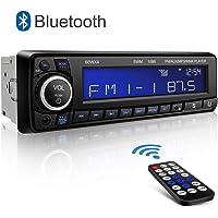 Autoradio Bluetooth Main Libre Kimood Radio Voiture avec Grand écran et Puissance de Sortie 60 * 4W, Supporte 18 Stations de Mémoire/MP3/AUX/WMA/Lecteur FM/Télécommande