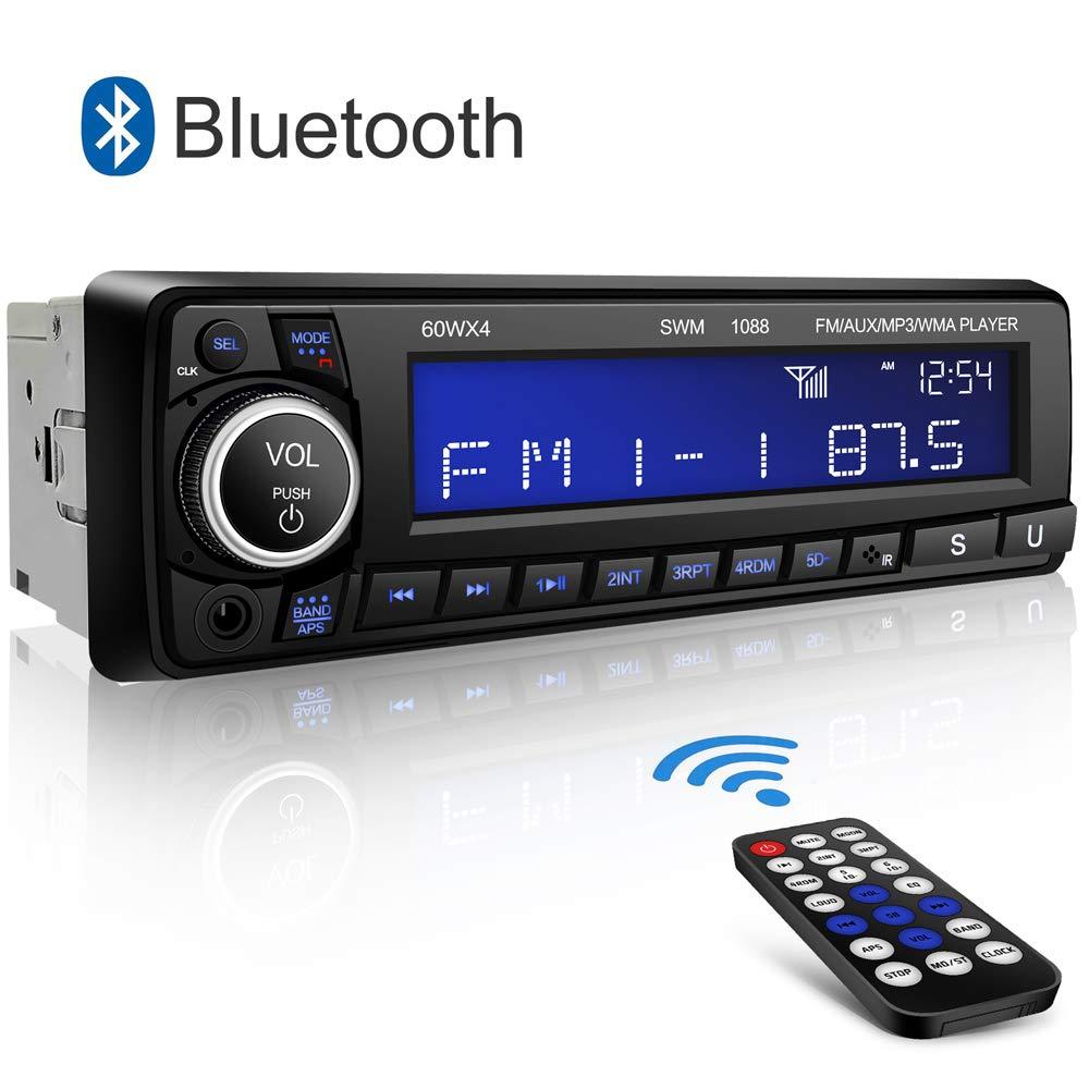 Autoradio Bluetooth Main Libre Kimood Radio Voiture avec Grand é cran et Puissance de Sortie 60 * 4W, Supporte 18 Stations de Mé moire/MP3/AUX/WMA/Lecteur FM/Té lé commande