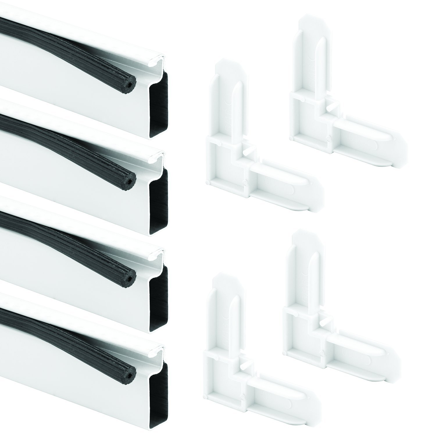 Prime-Line Products PL 7823 Screen Frame Kit, 3/8 in. x 3/4 in. x 60 in. x 60 in., Aluminum Frame, White