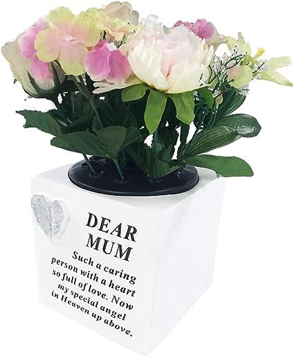 Mum Grave Rose Bowl Flowers Holder Vase Pot Graveside Memorial Plaque Gift Amazon Co Uk Office Products