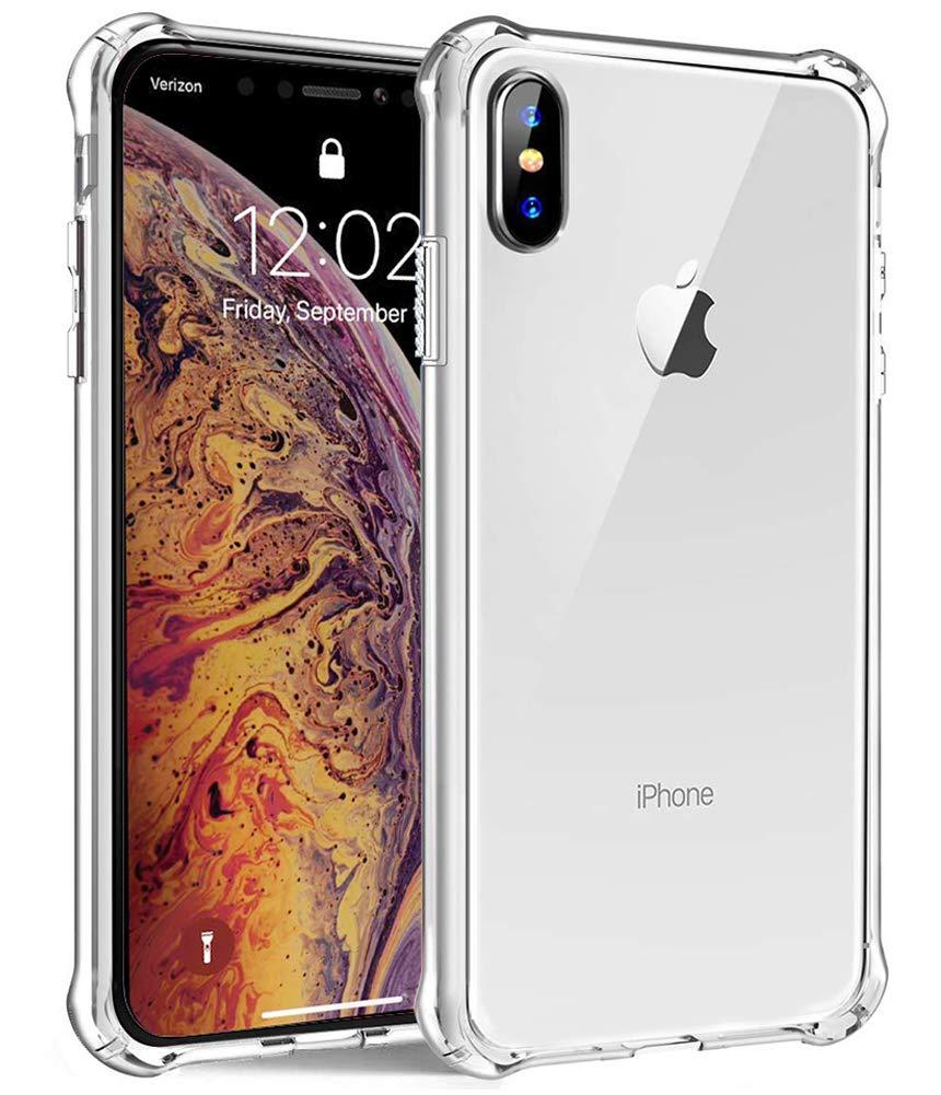 sale retailer bd0df 0a10e iPhone Xs Max Case, Androgate Transparent Slim Soft TPU Cover Bumper Case  for Apple iPhone 10S Max/iPhone Xs Max 6.5 Inch 2018, Clear