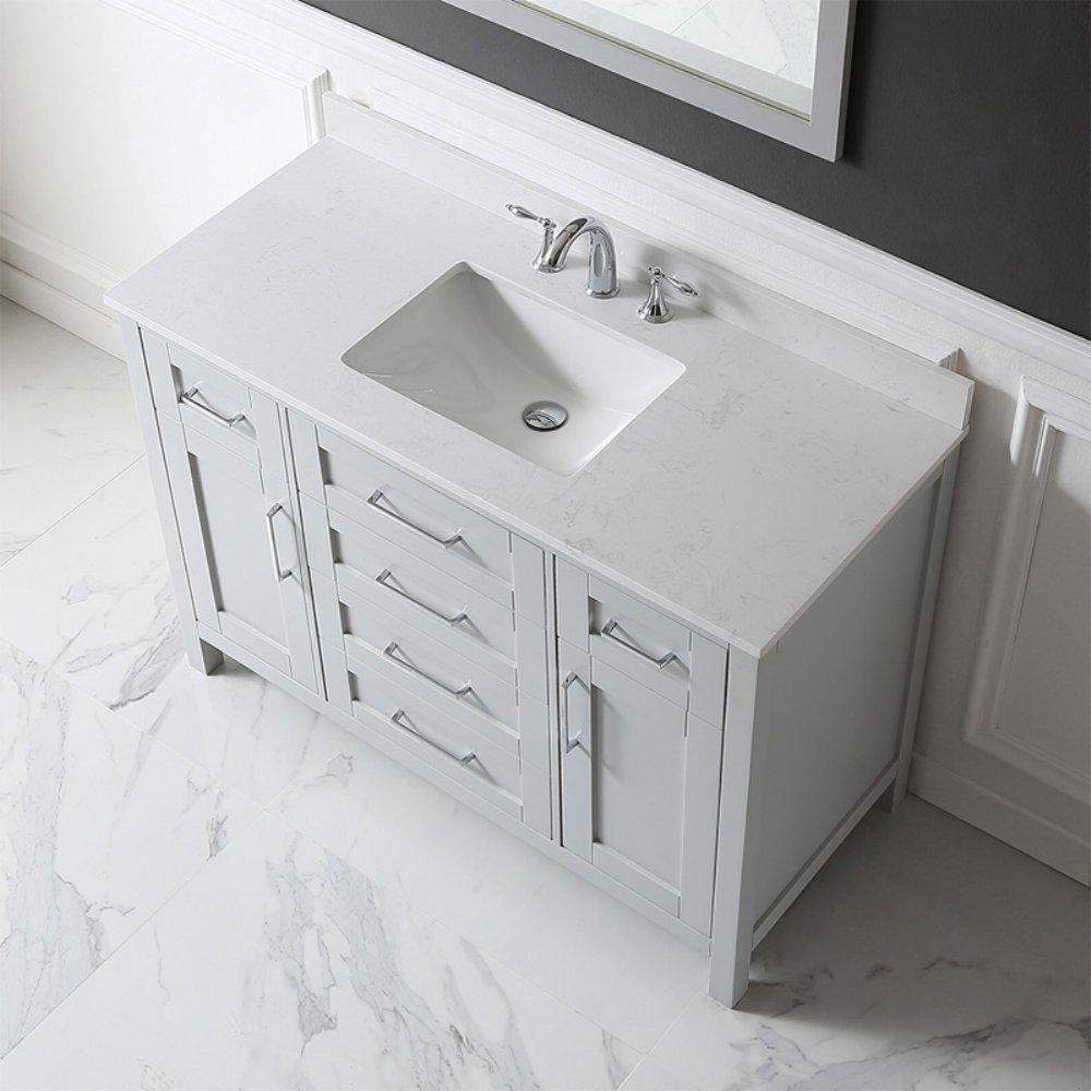 Ove Decors Tahoe 48G Marble Top Bathroom Single Sink Vanity, 48-Inch ...