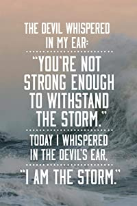 I Am The Storm Quote Ocean Motivational Cool Wall Decor Art Print Poster 24x36