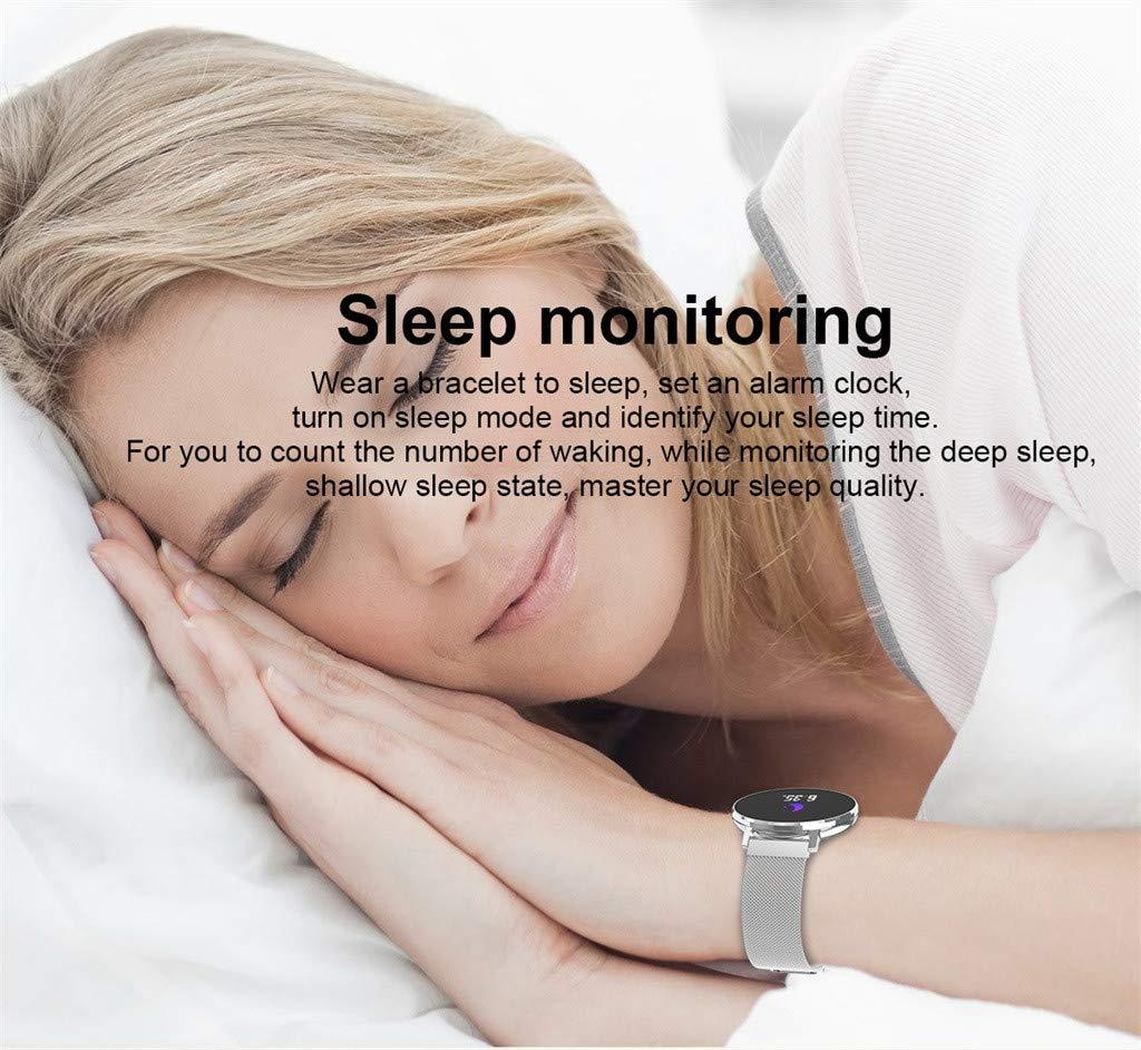 Amazon.com: Highpot Ultra Thin Smart Watch for Men Women ...