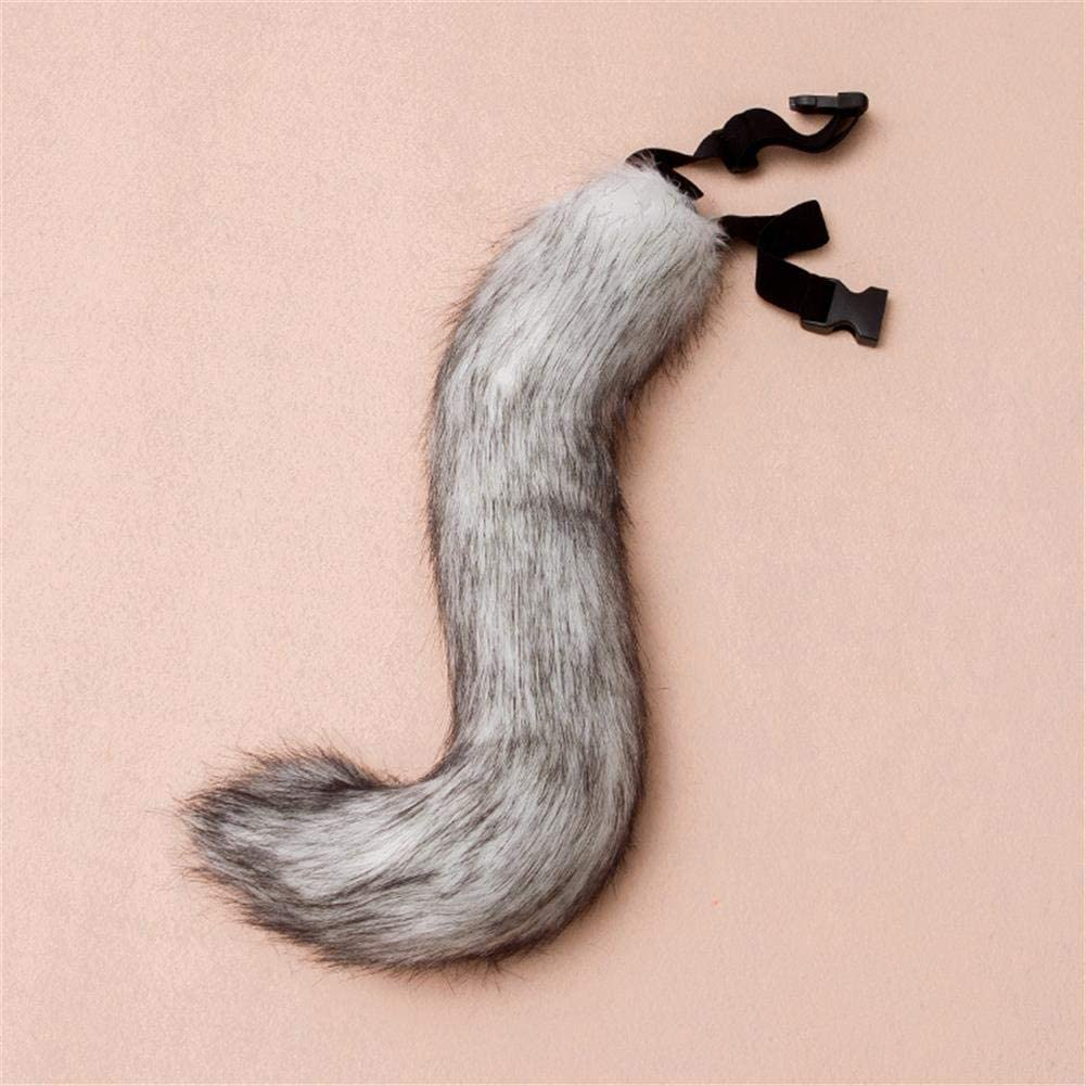 Plush Faux Fur Tail For Halloween Party Costume Adult Teen Cosplay Dress Up Artificial Animal Tails
