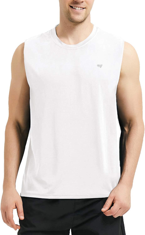 Roadbox Mens Performance Sleeveless Workout Muscle Bodybuilding Tank Tops Shirts
