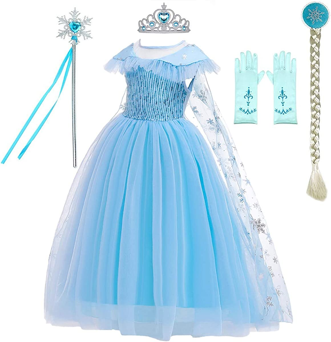 1pc Kids Frozen Queen Princess Anna Dress Girls Birthday Summer Skirt