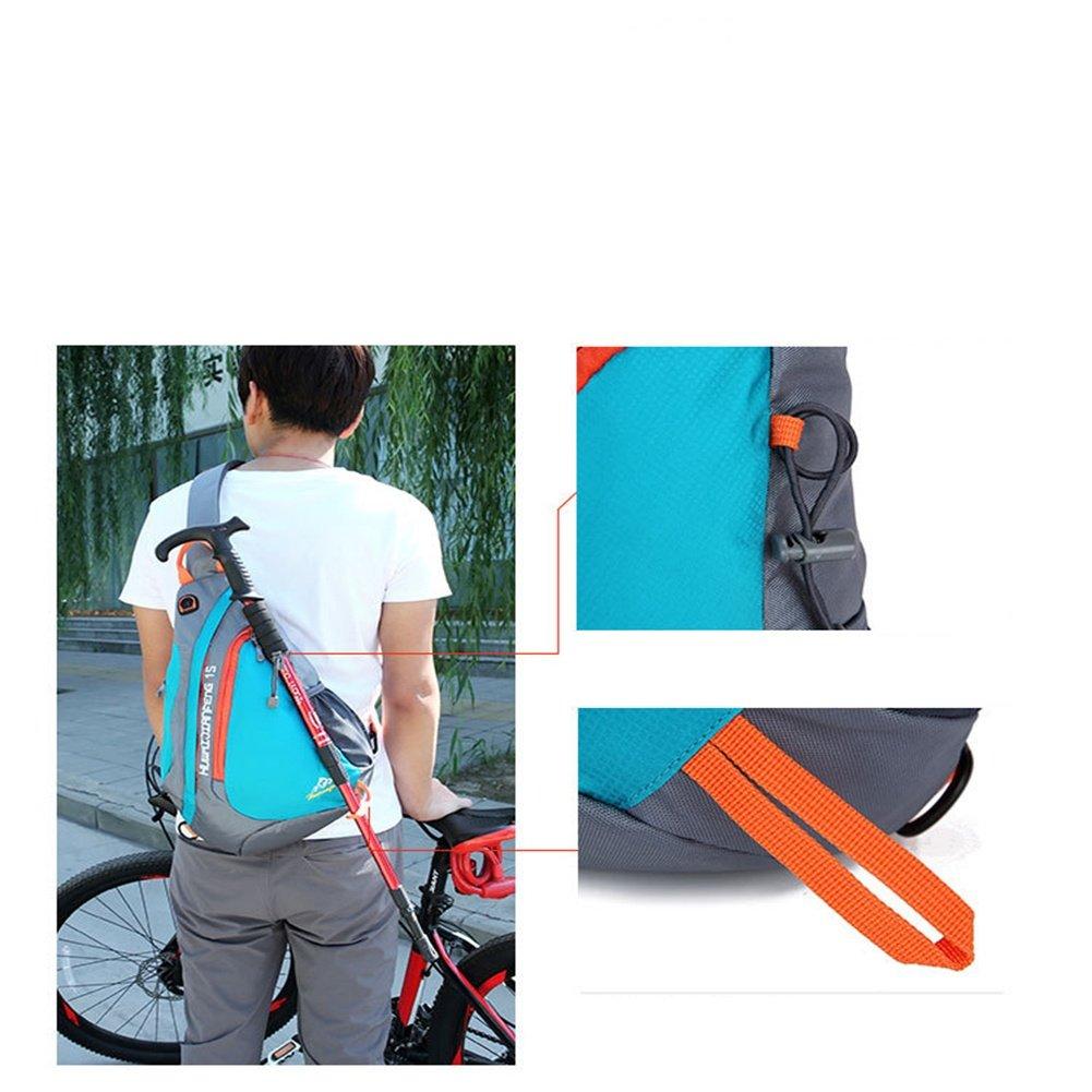 CJ Paquete cofres de cofres Paquete Bolsa de mensajero para hombre Bolsa de hombro deportiva al aire libre, Azul 0b1d9e