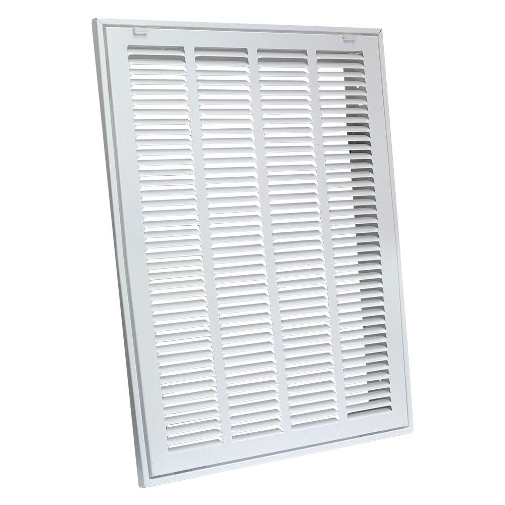 """EZ-FLO 61633 Steel Return Air Filter Grille for Sidewall and Ceiling Installation, 20"""" x 25"""" White"""