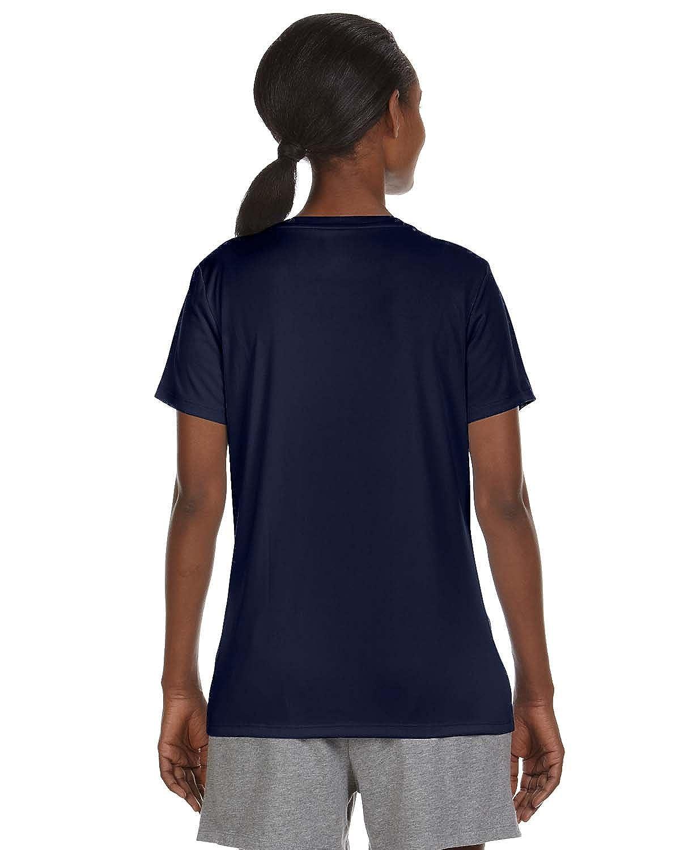 Cool Dri V-Neck T-Shirt Hanes Ladies 4 oz