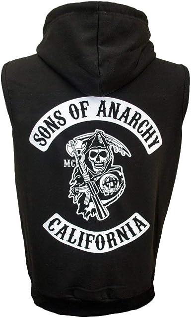 Sons of Anarchy Reaper Crew Capucha con Cremallera Negro