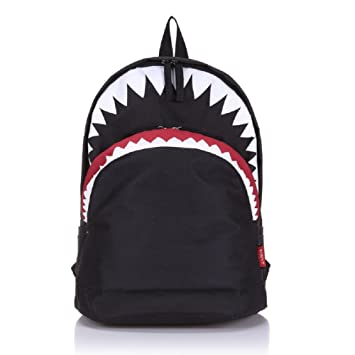 Amazon.com: Urmiss 3D Cool Shark Canvas Backpack Book Bag School ...