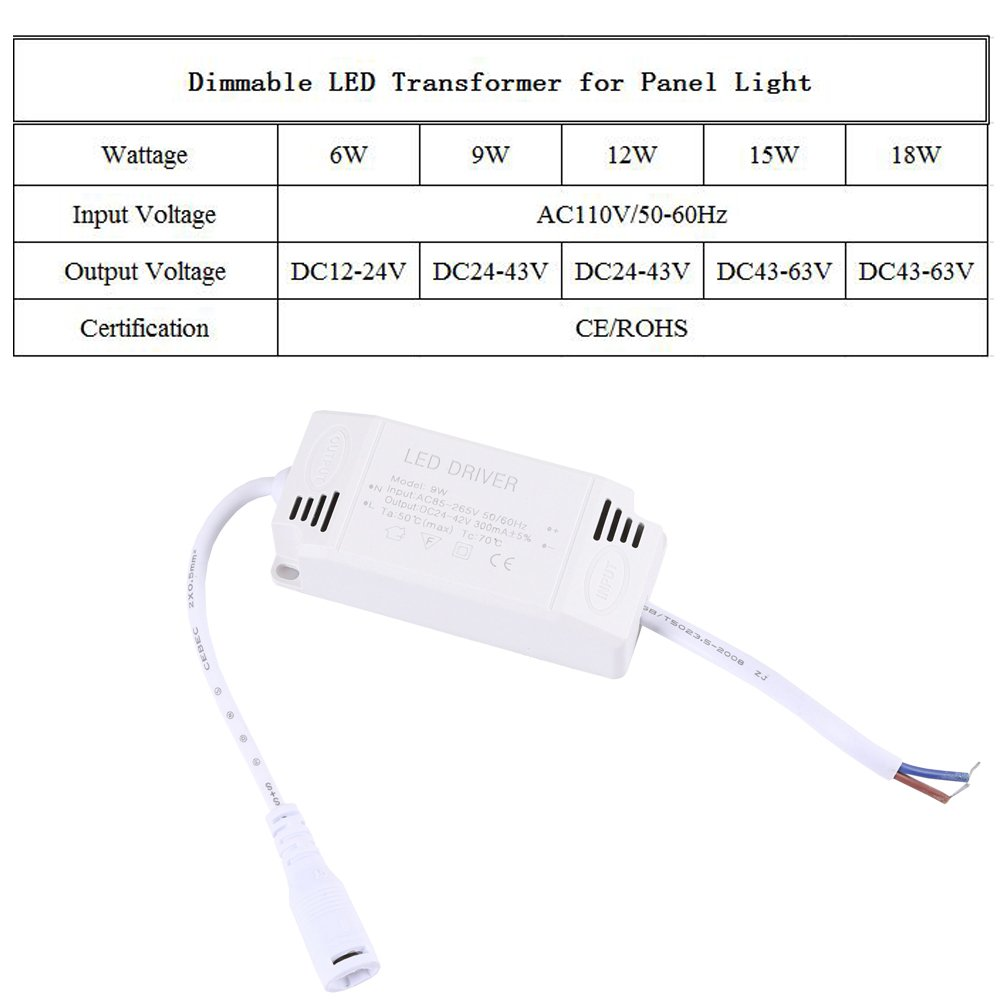 B-right 15W Dimmable LED Transformer for LED Panel Light