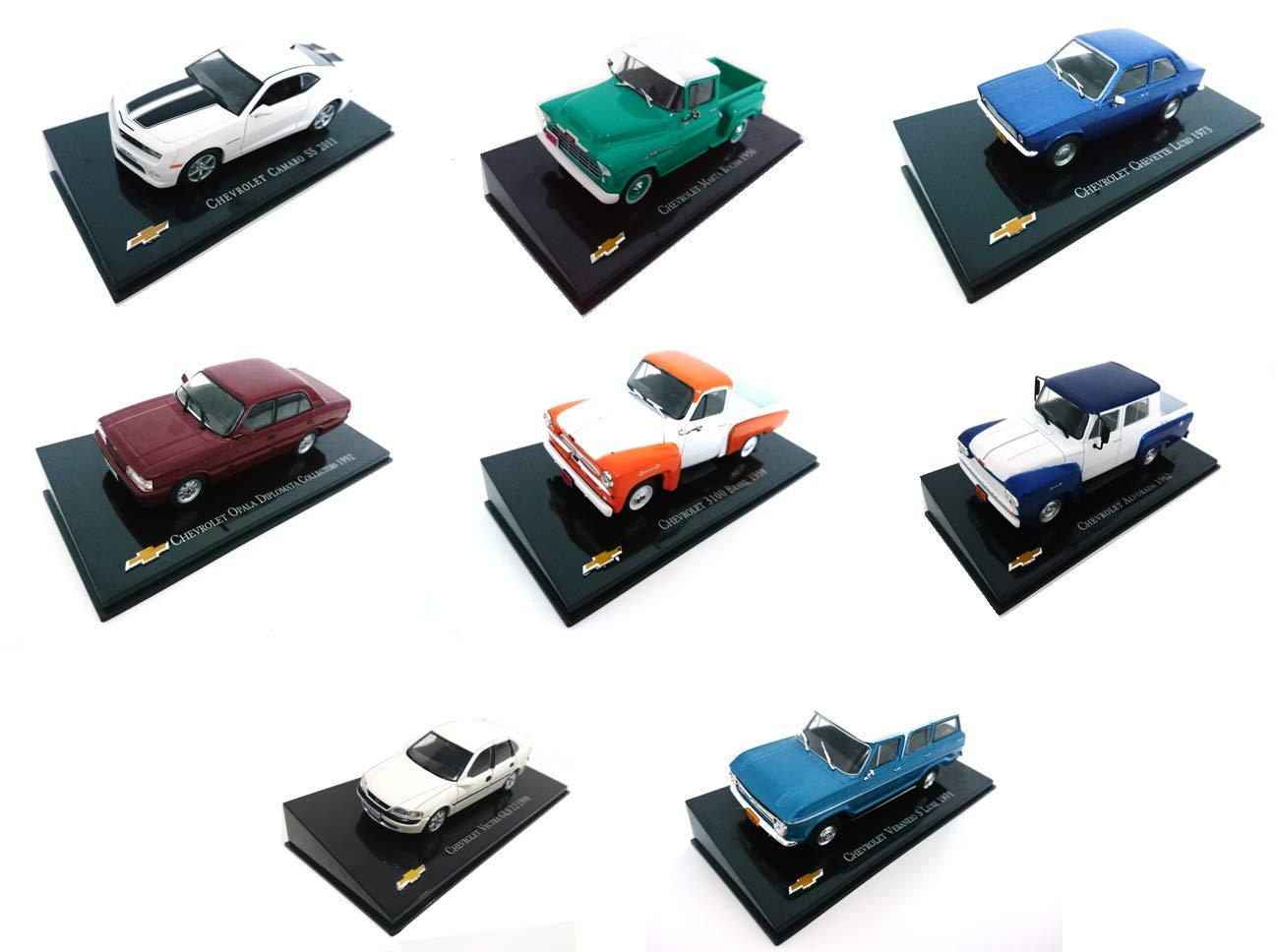 ref-CH2-3-4-6-8-10-11-16 IXO Set of 8 Different Miniature Cars Chevrolet Collection 1//43