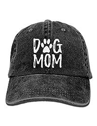 OASCUVER NVJUI JUFOPL Denim Fabric Adjustable Dog Mom Fashion Baseball Cap Black