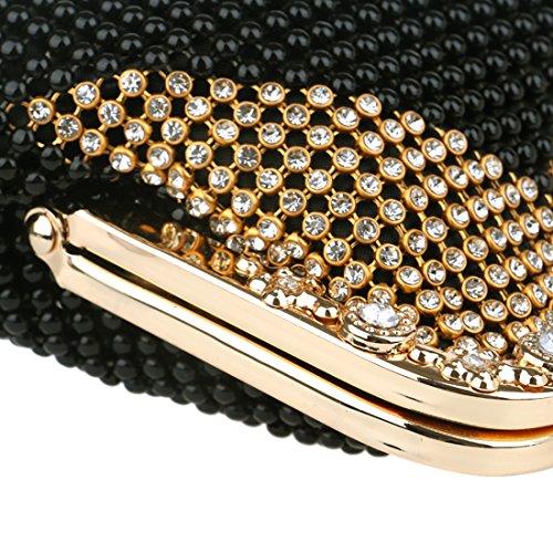 Evening Geometric Rhinestone EROUGE Beaded Bag Large Purse Design Gold Clutch 1vqfU