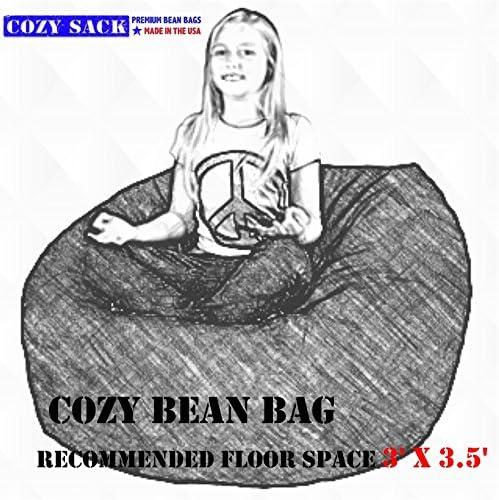 Cozy Sack, , Small Cozy Foam Bean Bag Chair, LIME