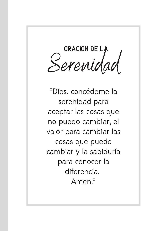 Oración De La Serenidad: Cuaderno De Notas en Blanco Regalo ...