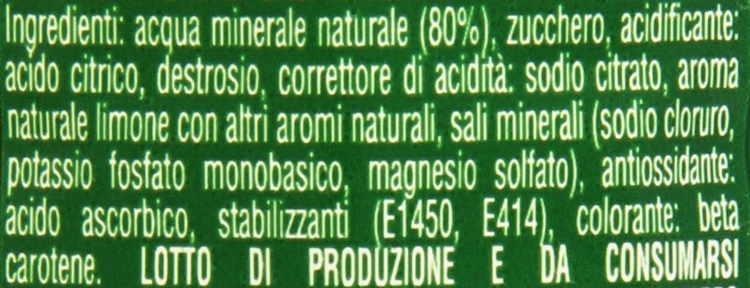 Amazon.com : Energade: Mineral Salt Supplement Lemon Taste Beverage 50cl (16.9oz) Pack of 4 [ Italian Import ] : Grocery & Gourmet Food