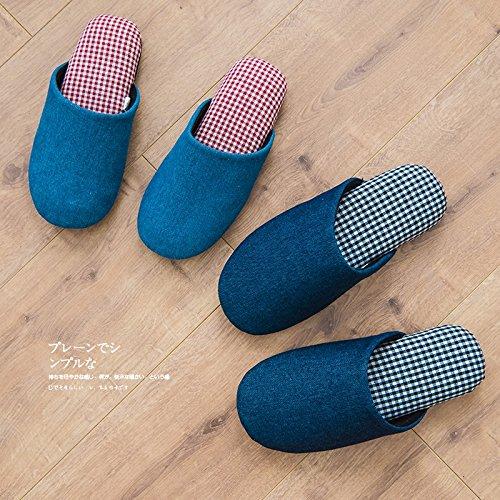 CWAIXXZZ pantofole morbide Un paio di uomini e di donne nella caduta indoor pantofole di cotone inverno home pavimenti in legno di spessore silenzio anti-slittamento fondo morbido ,M (36-39), la ragaz