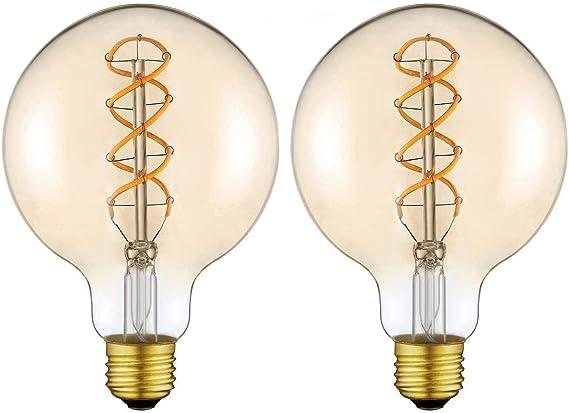SUAVER LED E27 Edison Lampe G95 Vintage Lampe Gl/ühlampe Lichterkette Filament Lampe,85-265V Deko Gl/ühbirne f/ür Haus Caf/é Bar Laden 85-265V