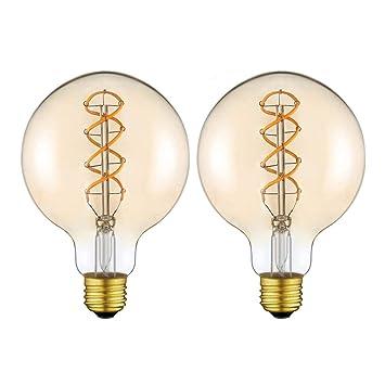 Bombilla LED Edición Vintage Edison Extraterrestre (φ125mm) para Lámpara Decorativa Regulable Flexible Bombilla LED