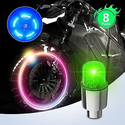 Pack de 2 luces LED para bicibleta con sensor de movimiento para rueda válvula
