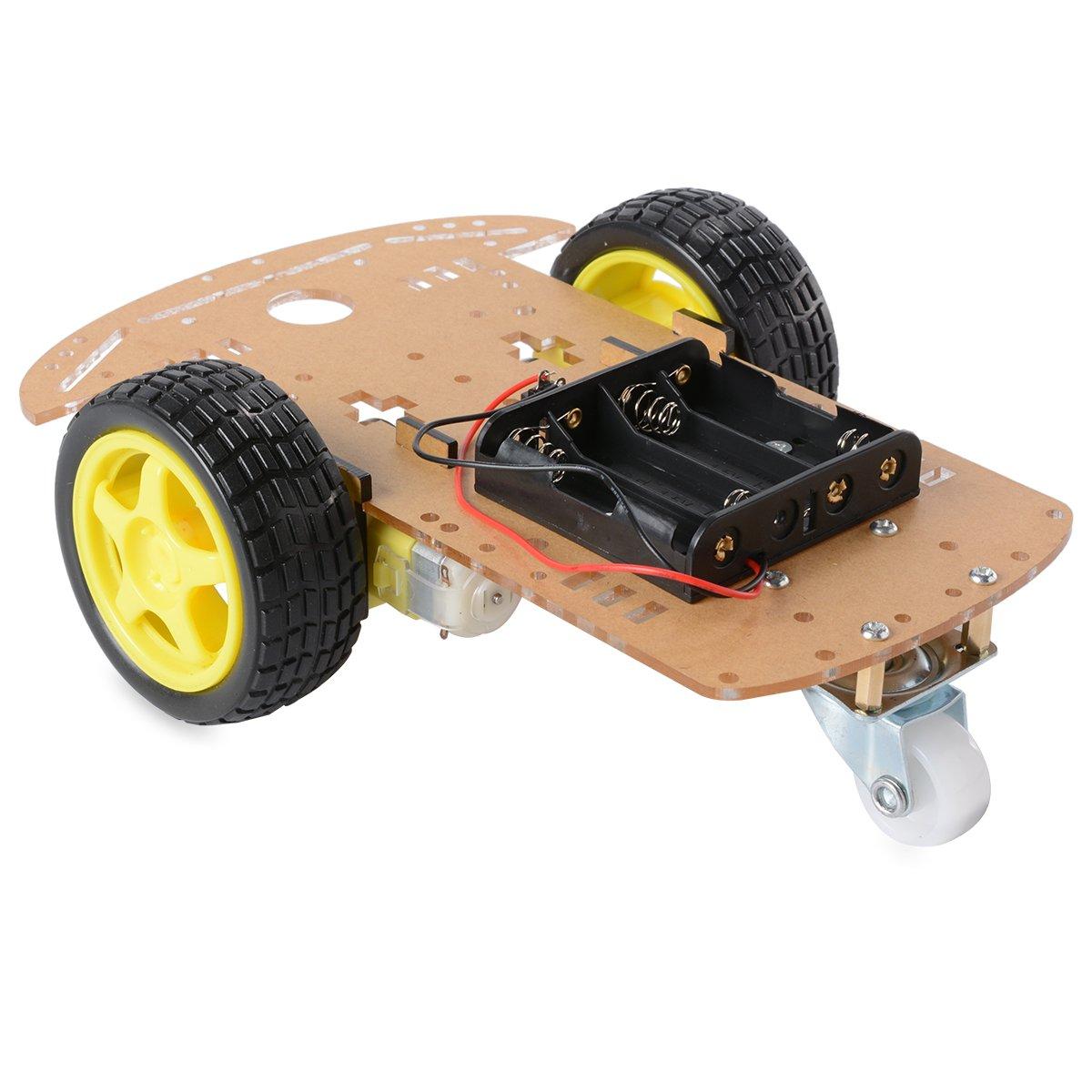 2WD Moteur Smart Robot Car Kit Châ ssis Speed Encoder Boî te de batterie pour Arduino 1:48 ShenZhen Shengxindeyuan Technology Co. Ltd SX024